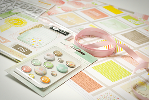 Neapolitan scrapbooking kit detail 1