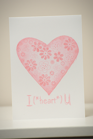Single Layer Valentine's Card