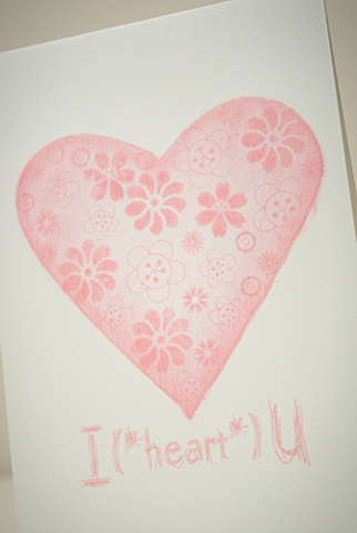 Single Layer Valentine's Card detail