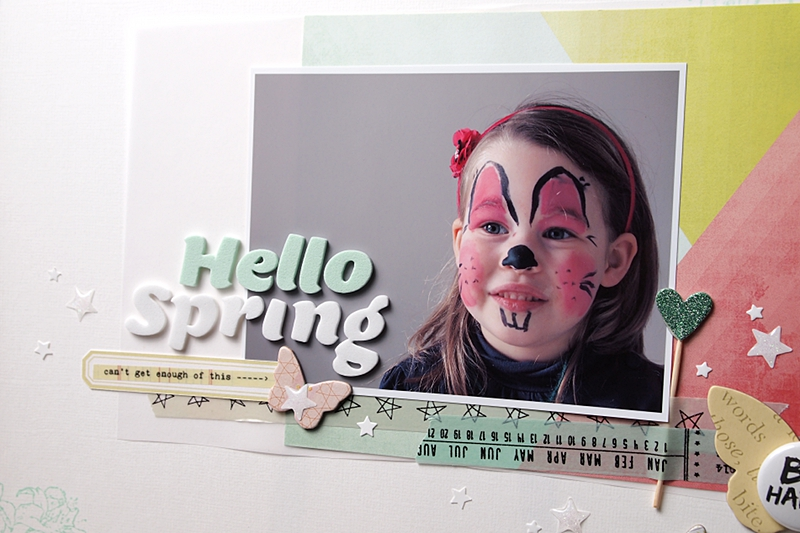 Hello Spring by Els Brigé for A Flair For Buttons
