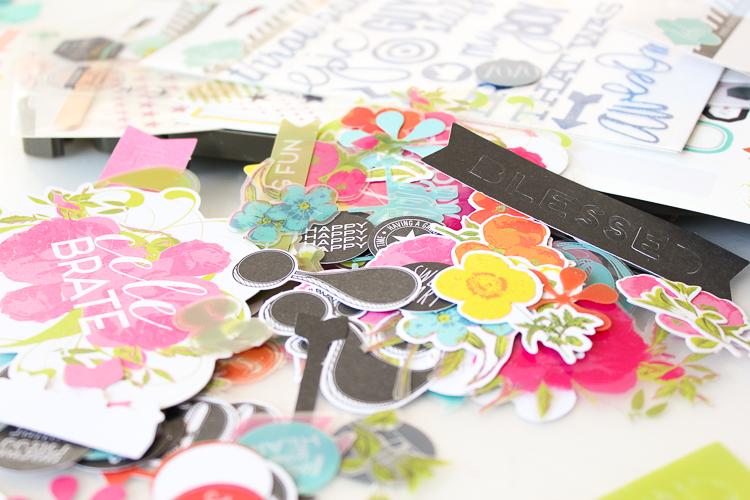 Janna Werner Scrapbooking Layout craft table close up