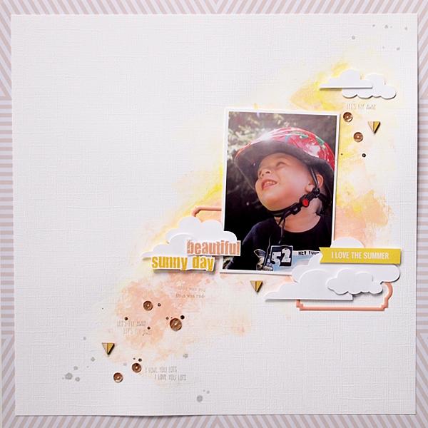 Beautiful Sunny Day by Els Brigé for Pinkfresh Studio + Pretty Little Studio Blog Hop
