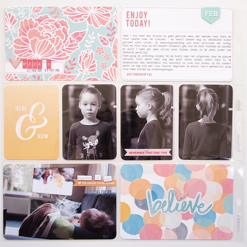 Project Life 2015 | Week 6 by Els Brigé  for Becky Higgins DT