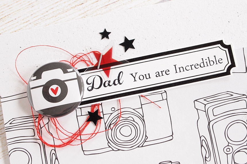 Dad by Els Brigé for A Flair For Buttons