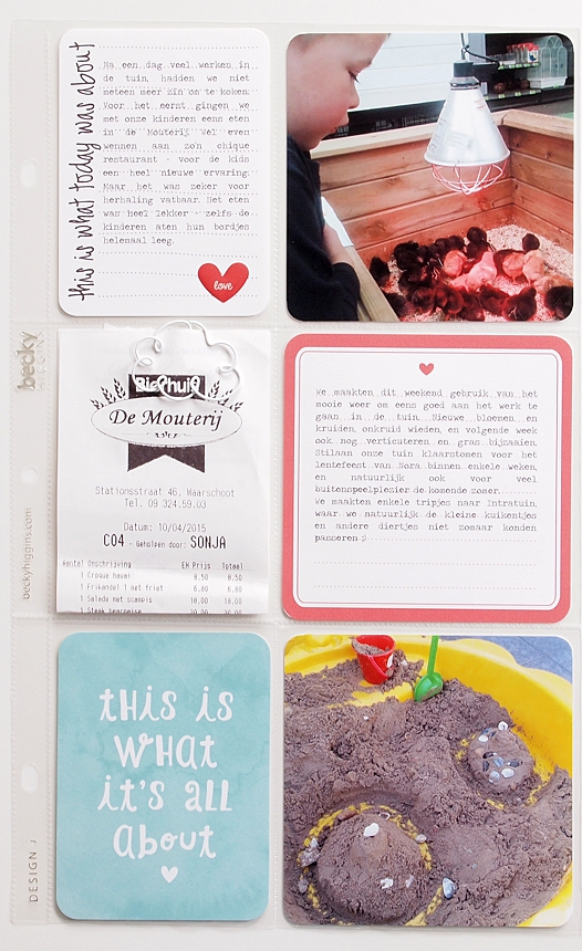 Project Life 2015 | Week 15 by Els Brigé for Becky Higgins DT