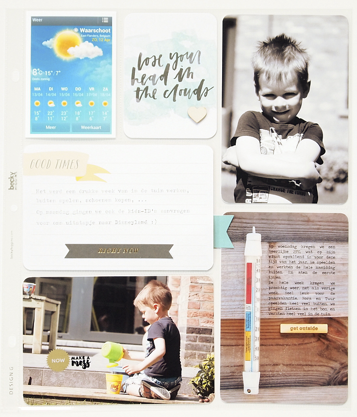 Project Life 2015 | Week 16 by Els Brigé for Becky Higgins DT